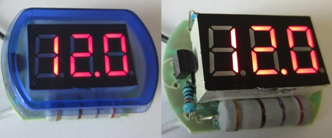 mini LED voltmeter for 12V battery