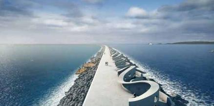 Causeway at proposed swansea bay lagoon