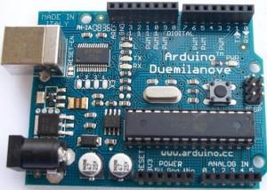 arduino duemilanove microcontroller board