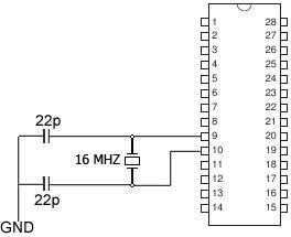Standalone Arduino circuit