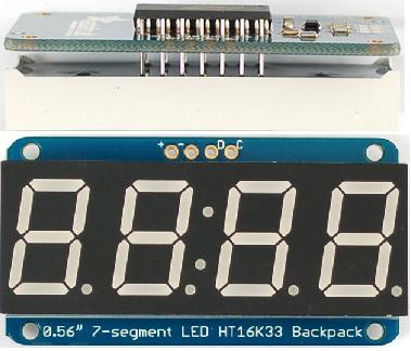 Adafruit 7 segment 4 digit display with backpack