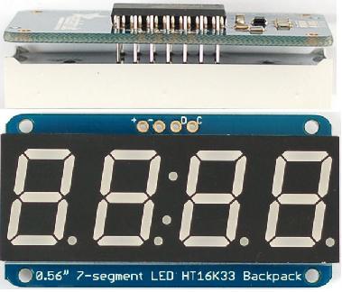 Adafruit 7 segment 4 digit display with backpack