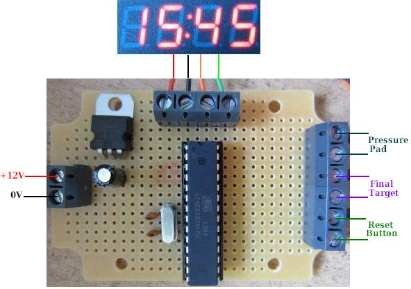Connecting diagram for arduino 7 segment 4 digit timer