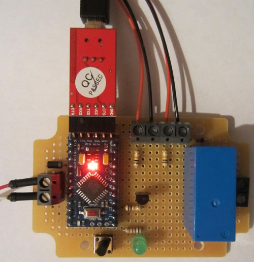 Arduino pro mini based REUK solar water heating pump controller