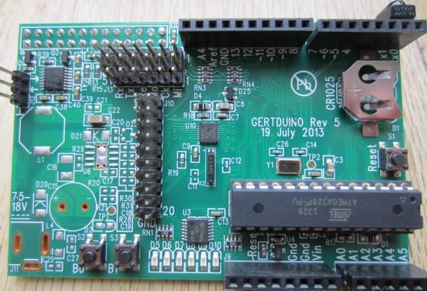 gertduino raspberry pi board