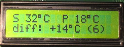 LCD for solar water heating pump controller