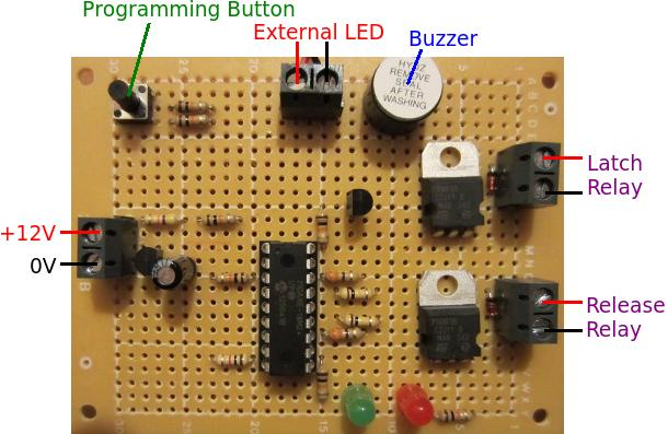 12v low voltage disconnect for latching relays with early warning buzzer and LED