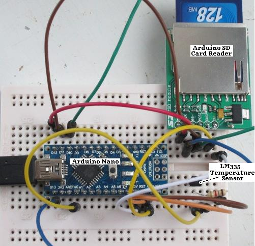 Arduino SD card temperature datalogger