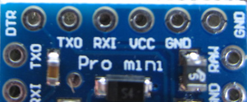 Connections for ftdi breakout board on arduino pro mini board