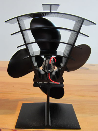 Rear view of Fir361 PremiAIR 4 inch stove fan from Valiant