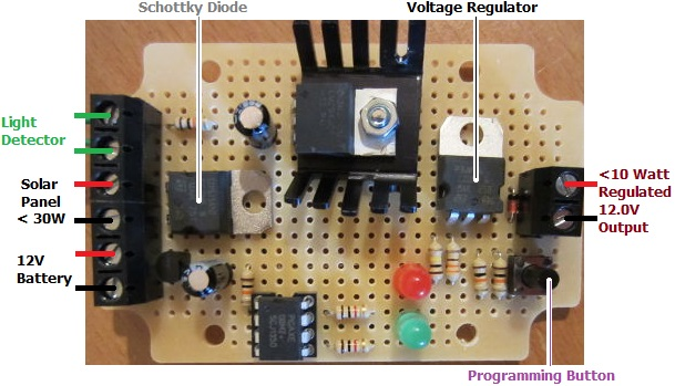 REUK Dawn Dusk Lighting Controller with Regulated 12V Output