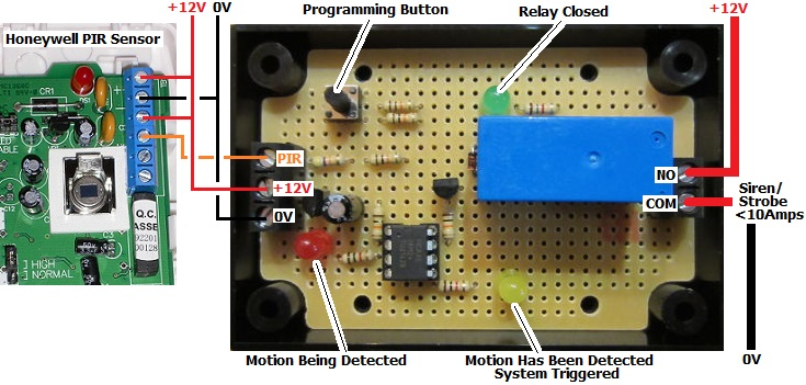 PIR Motion Sensor Relay Board for Security System