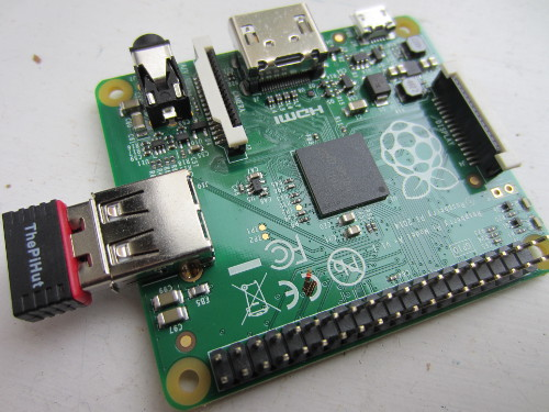 Raspberry Pi A+ Model with USB WiFi Module