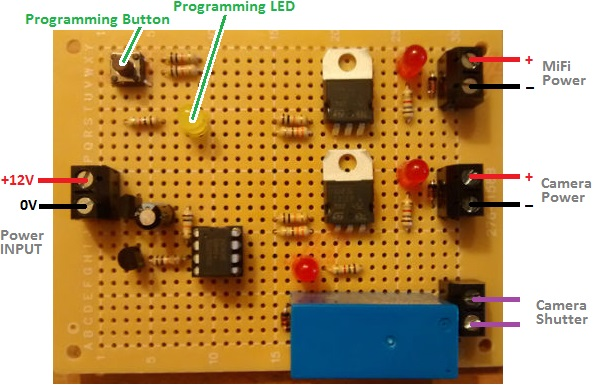 Automatic programmable time lapse camera controller
