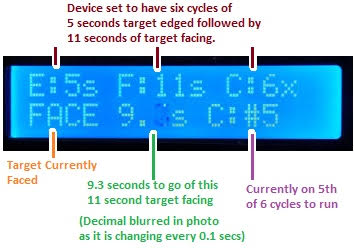 target shooting timer relay display in action