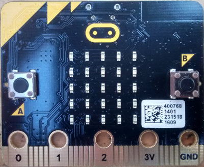 BBC micro:bit LED array and buttons