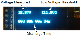 OLED display on battery mah capacity meter device