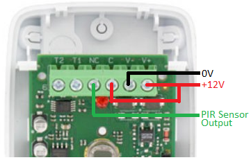 Honeywell IS312 PIR sensor connections to REUK PIR relay timer
