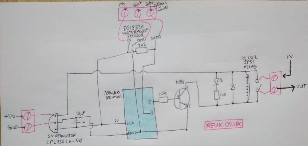 circuit diagram for arduino thermostat relay controller