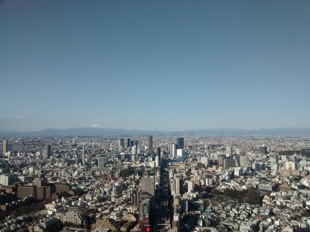 view of Mount Fuji and Tokyo from Roppongi AcademyHills - Tokyo Mori Tower