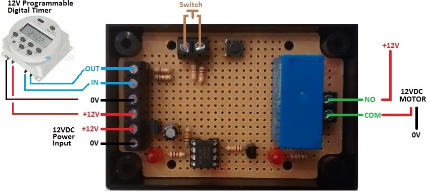Animal feeder motor controller with timer