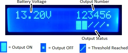 display for multi level low voltage disconnect