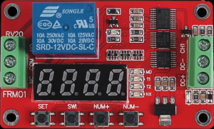 FRM01 12V multifunction PLC relay timer