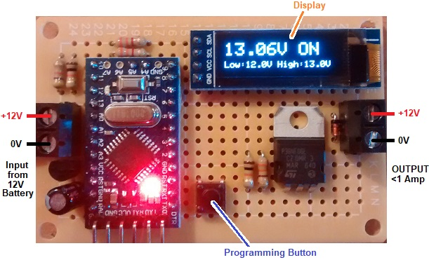 12v programmable low voltage disconnect with OLED from reuk