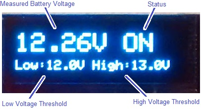 oled display from reuk 12v low voltage disconnect