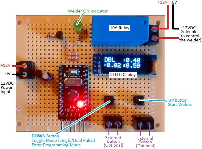 dual pulse spot welder controller