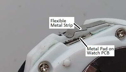 Inside look at a digital watch button